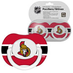 First Time Fan Ottawa Senators 2-Pack Baby Pacifier Set