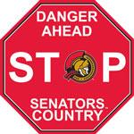 Fremont Die Ottawa Senators Plastic Stop Sign