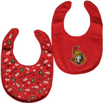 Ottawa Senators 2-Piece Baby Bib Set by Mighty Mac