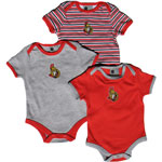 Mighty Mac Ottawa Senators Newborn 3-Piece Creeper Set