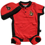 Mighty Mac Ottawa Senators Newborn Creeper, Hat & Bootie Set
