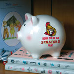 The Memory Company Ottawa Senators Born To Be Ceramic Piggy Bank