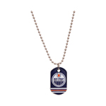 JF Sports Edmonton Oilers Dog Tag Necklace
