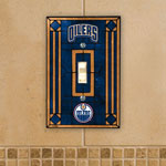 The Memory Company Edmonton Oilers Single Art Glass Light Switch Plate Cover