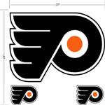 Trademarx Philadelphia Flyers Peel-N-Stick Wall Decals
