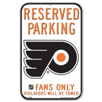 Wincraft Philadelphia Flyers Plastic Reserved Parking Sign
