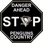 Fremont Die Pittsburgh Penguins Plastic Stop Sign