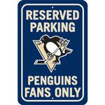 Fremont Die Pittsburgh Penguins Plastic Reserved Parking Sign