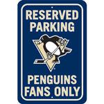 Fremont Die Pittsburgh Penguins Plastic Reserved Parking Sign