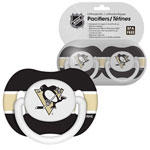 First Time Fan Pittsburgh Penguins 2-Pack Baby Pacifier Set