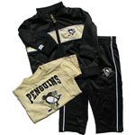 Pittsburgh Penguins Infant Zip-Up Jacket, Pant & T-Shirt Set by Mighty Mac
