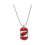 JF Sports Detroit Red Wings Dog Tag Necklace