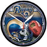 Wincraft St. Louis Rams Round Wall Clock