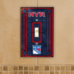 The Memory Company New York Rangers Single Art Glass Light Switch Plate Cover
