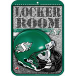 Wincraft Saskatchewan Roughriders Plastic Locker Room Sign