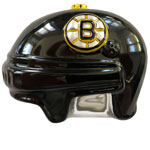 Boston Bruins Hockey Helmet Mouth-Blown Glass Ornament by Scottish Christmas