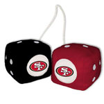 Fremont Die San Francisco 49ers Fuzzy Dice
