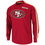VF Imagewear San Francisco 49ers End of the Line V Long Sleeve T-Shirt