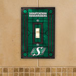 The Memory Company Saskatchewan Roughriders Single Art Glass Light Switch Plate Cover