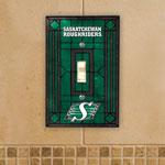 The Memory Company Saskatchewan Roughriders Single Art Glass Light Switch Plate Cover