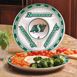 The Memory Company Saskatchewan Roughriders Ceramic Chip & Dip Platter