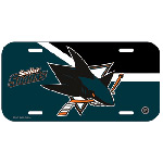 Wincraft San Jose Sharks Plastic License Plate