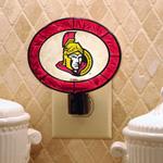 The Memory Company Ottawa Senators Art Glass Night Light