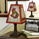 The Memory Company Ottawa Senators Art Glass Table Lamp