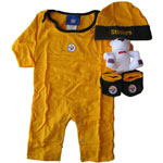 Reebok Pittsburgh Steelers Newborn 4-Piece Daywear Set