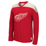 Detroit Red Wings Retro Long Sleeve Appliqué T-Shirt by CCM