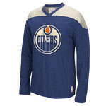 Edmonton Oilers Retro Long Sleeve Appliqué T-Shirt by CCM