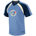 Majestic Toronto Blue Jays Cooperstown Collection Fireballer V-Neck T-Shirt