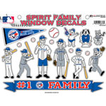 Rico Industries Toronto Blue Jays Spirit Family Window Decals