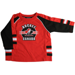 Team Canada Toddler Raglan Logo Polyester Top by Mighty Mac
