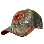 Calgary Flames Realtree Camo Frost Adjustable Hat by '47 Brand