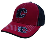 Calgary Flames Youth Sniper Stretch Fit Hat by '47