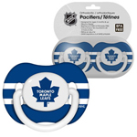 Toronto Maple Leafs 2-Pack Baby Pacifier Set by First Time Fan