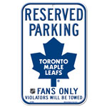 Toronto Maple Leafs Plastic Reserved Parking Sign by Wincraft