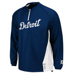 Majestic Detroit Tigers Big & Tall Authentic Home Cool Base Triple Peak Gamer Jacket