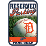 Wincraft Detroit Tigers Plastic Reserved Parking Sign