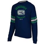 CCM Vancouver Canucks Ice Pro Appliqué Long Sleeve Crew T-Shirt