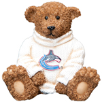 Elby Gifts Vancouver Canucks Power Play Teddy Bear Figurine