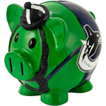 Vancouver Canucks Large Resin Thematic Piggy Bank by Forever Collectibles