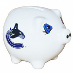 Vancouver Canucks Ceramic Piggy Bank