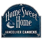 Wincraft Vancouver Canucks Home Sweet Home Wood Sign