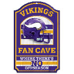 Wincraft Minnesota Vikings Fan Cave Wood Sign
