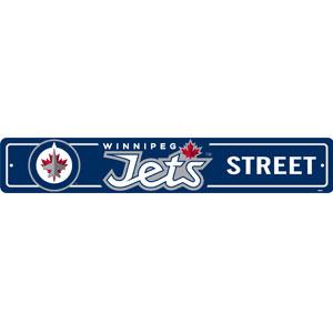 Fremont Die Winnipeg Jets Plastic Street Sign