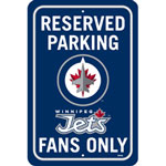 Fremont Die Winnipeg Jets Plastic Reserved Parking Sign