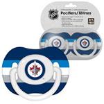 First Time Fan Winnipeg Jets 2-Pack Baby Pacifier Set