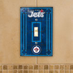 The Memory Company Winnipeg Jets Single Art Glass Light Switch Plate Cover